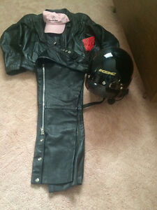 Motorcycle Jacket\chaps and helmet-his and hers