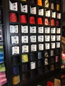 Wall unit for shirts and ties