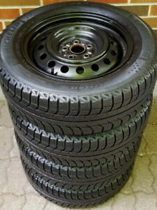 195 65 15 - MICHELIN SNOW TIRES -5 BOLT RIMS - COROLLA MATRIX