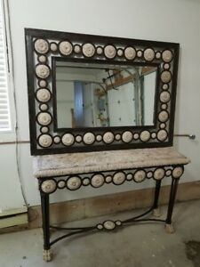 Hallway table and mirror