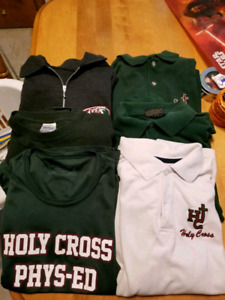 Holy Cross uniform shirts.
