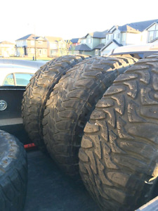 4 tires mud creepers 37x 13.5 r20