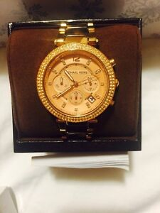Authentic michaels kors rose gold watch