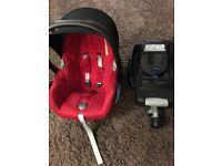 Maxi cosi infant car seat and Easybase 2