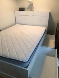IKEA Brimnes Double/Full Bed with Headboard/Slats