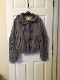 Topshop Moto grey coat