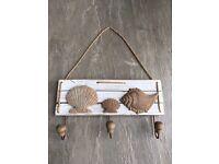 Rustic seaside seashells wall hooks £2