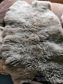Large genuine SHEEPSKIN rug