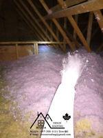 Blown-in Attic Fiberglass Insulation
