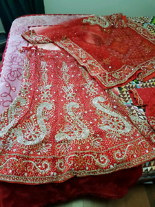 Indian Red wedding lahenga for sale !