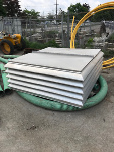 "Centrifugal Penthouse Roof Exhauster Louver 74.5""x74.5"""