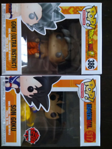 Assorted pop funko marvel dragonball nba and more