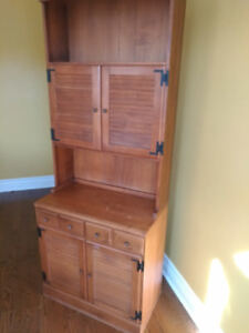 Solid Wood Cabinet with Desk/Shelf/Drawers