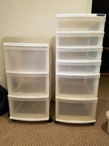 3 and 6 drawer plastic storage