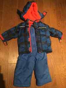 12-18 month snow suit and mitts