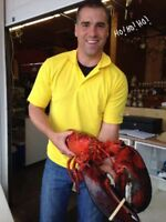 SEAFOOD!  FUNDY LOBSTER, SCALLOPS, HALIBUT, SALMON