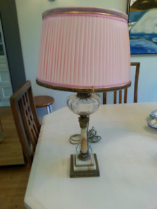 Magnificent alabaster and glass lamps.
