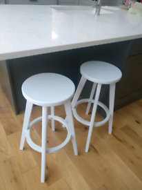 d6d3bf798b69 Pair of matching breakfast bar stools. Painted wood