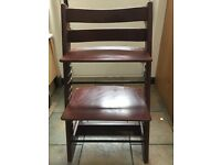Stokke Trip Trap Chair in Walnut plus Baby Set and Harness