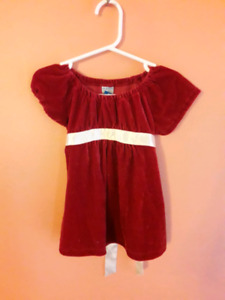 Christmas Dress (red & white)