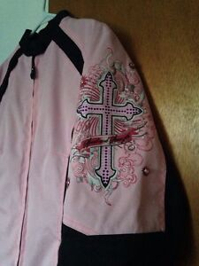 PINK & BLACK Women's motorcycle jacket**Like New**
