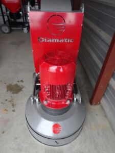 New Diamatic BMG 555 Concrete Grinder Polisher, tooling