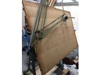 Vintage Cast iron draft-mans/architect drawing board