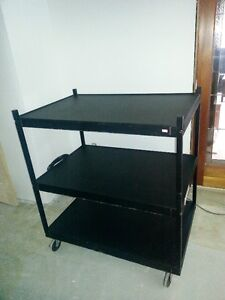 Steel AV carts, haevy duty with power bar, excellent condition,