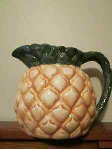 Pineapple shaped pitcher...or the BEST ALOE VERA PLANTER EVER!! Edmonton Edmonton Area image 1