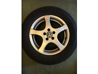 VW golf 4 alloy (complete 5 set of alloy with tyres)