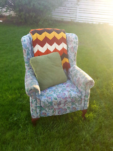 Vintage Wingback Reading Chair