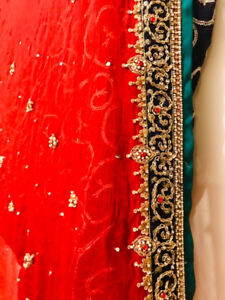 Pakistani saree wedding dress