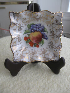 "SIMPLY GORGEOUS OLD VINTAGE 5"" SQUARE ""OLD FOLEY"" CHINA DISH"