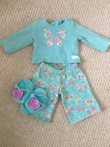 "American Girl Pajama set for 18"" doll"