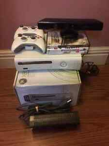 Xbox 360 with Kinect Sensor, 7 games and 2 wireless controllers