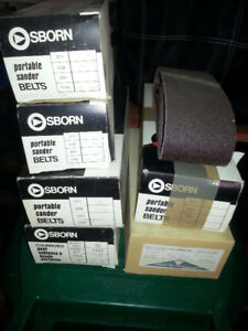 Belt sander belts and Sandpaper Rolls