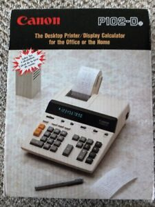 Canon Adding Machine - display and printout, with tapes