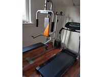 Multi gym and treadmill and abb machine
