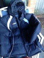 Legea Winter Soccer Jacket- Black 3/4 length