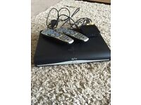 Sky+hd box with 2 remotes and wireless box.