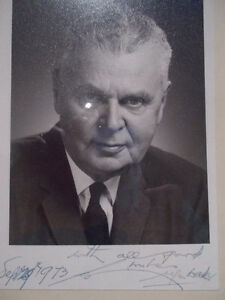 John Diefenbaker signed photo and book