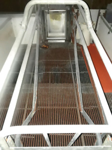 farrowing crates with tri bar flooring,auto drop sow feeders