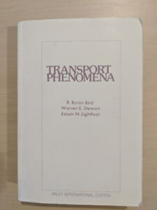 Transport Phenomena by Bird, Stewart and Lightfoot