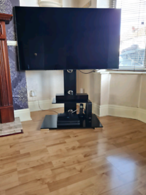 TV stand with mount Black