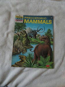 vintage 1962 HOW AND WHY WONDER BOOK OF PREHISTORIC MAMMALS