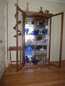 dining room  oak china cabinet