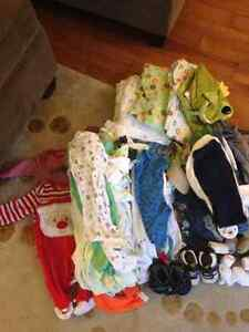Boy Large lot full of  various sizes 0-12 months