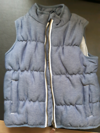 Mothercare blue padded gilet age 2-3 years