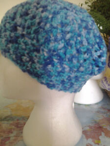 MULTI COLOR BLUE HAT HANDMADE SIZE MEDIUM