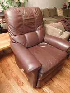 Wine coloured recliner